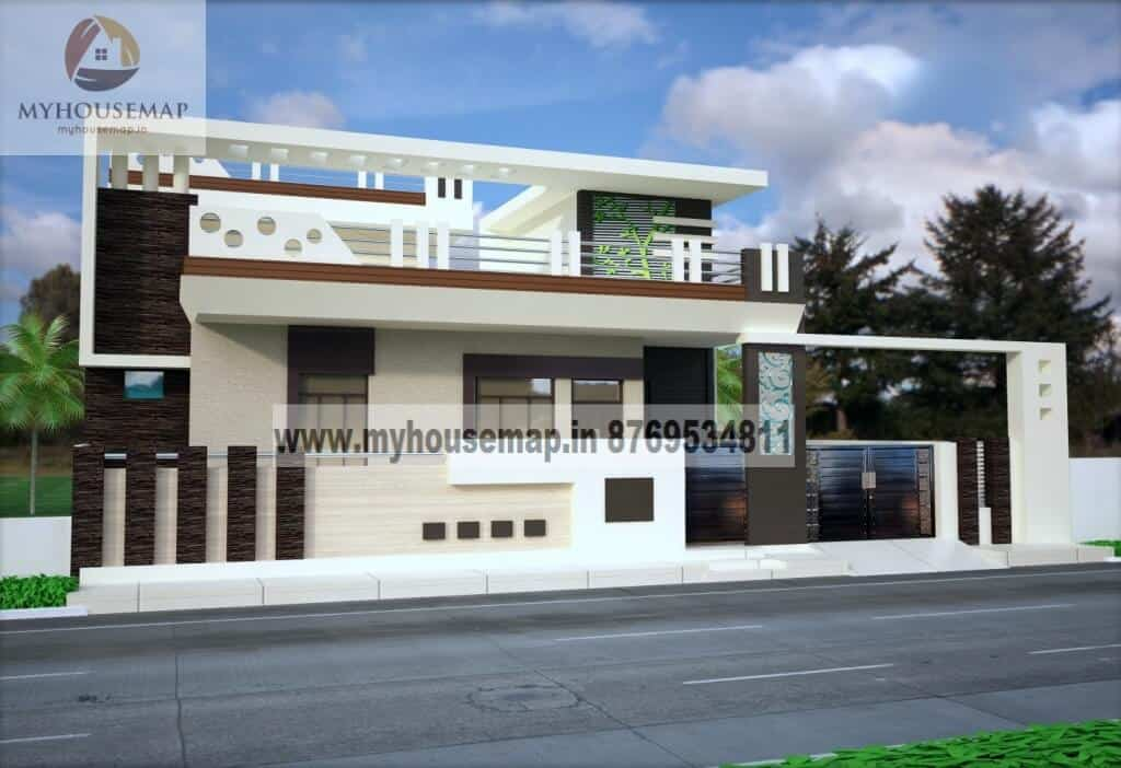 Get Single Floor House Elevation Design Services At My House Map,Bedroom Cabinet Design With Dresser