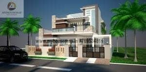 Elevation Designs For Double Floor Houses