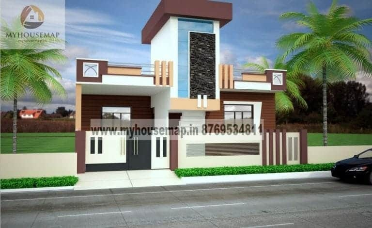 small and simple house front elevation design