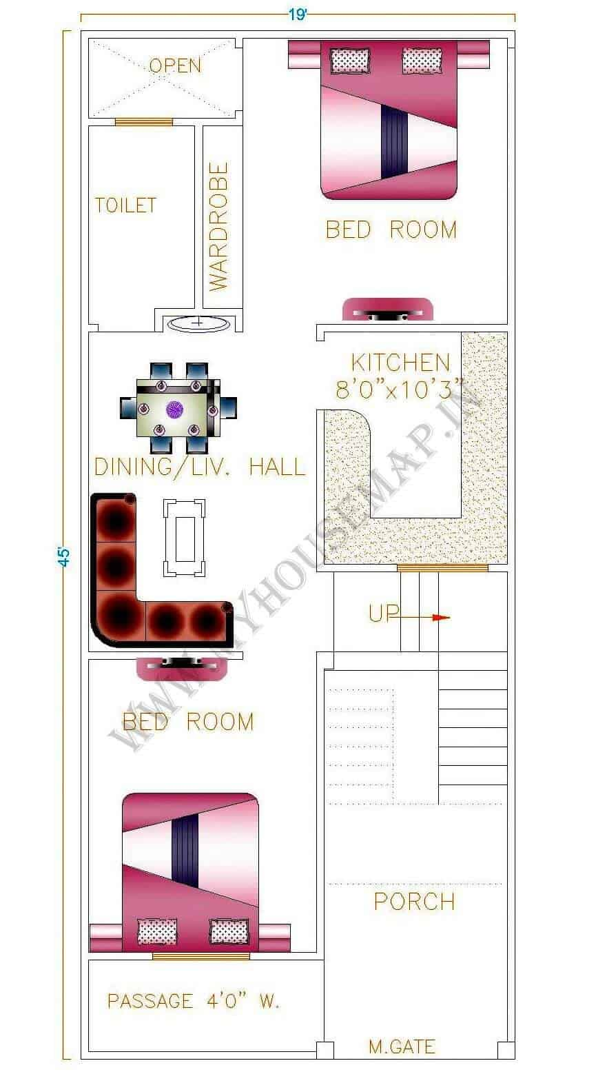 north facing house vastu plan