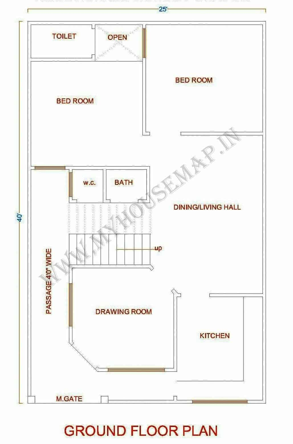 1000 sq ft house plan