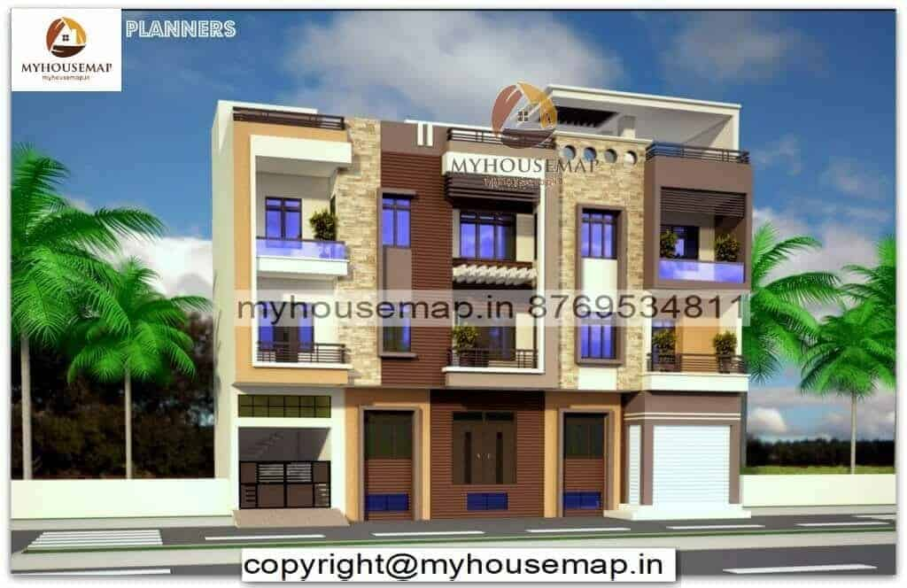 3 floor front elevation