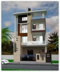 elevation designs for 3 floors building 30x40