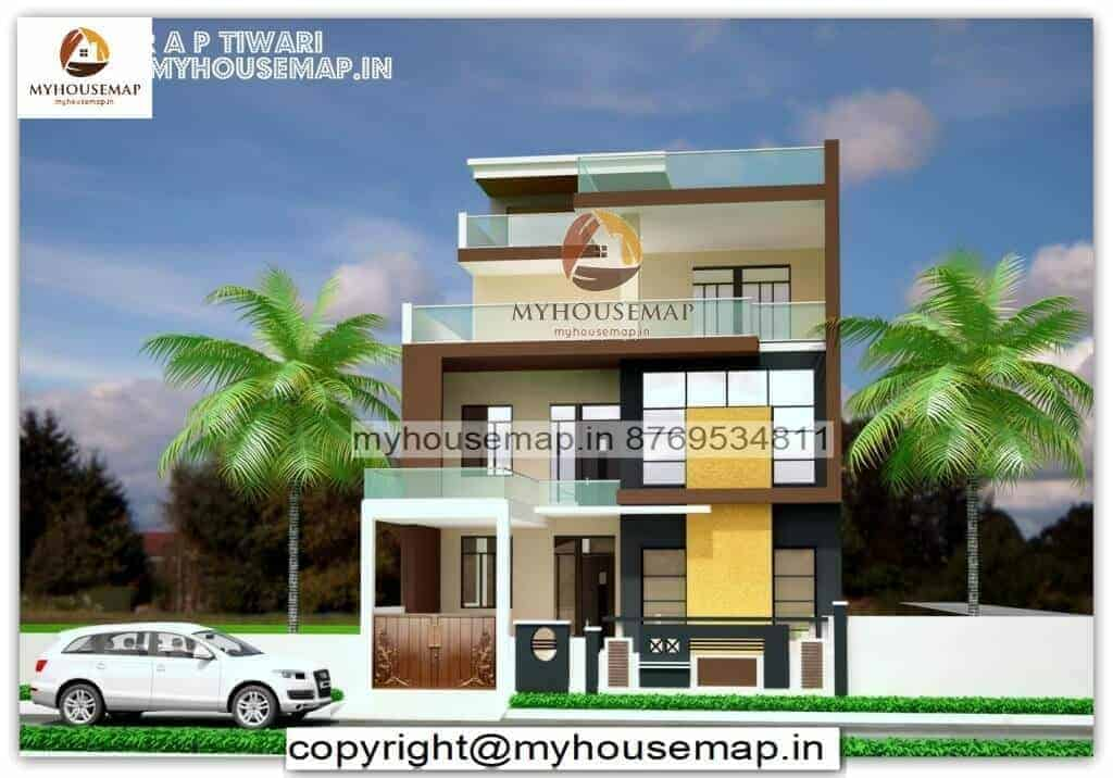 front elevation design of house pictures in india