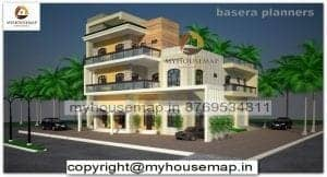 elevation of bungalow