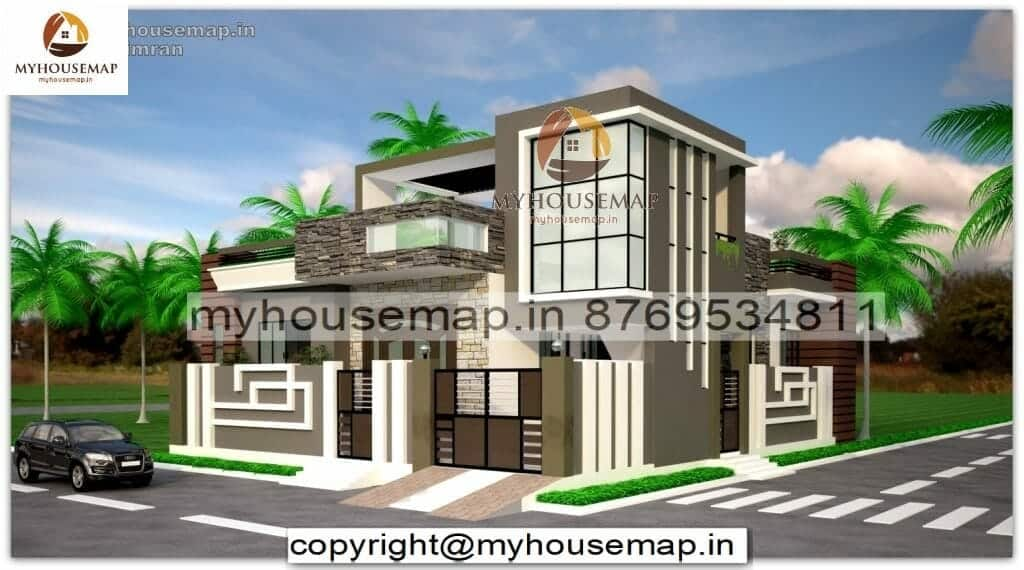 front elevation for single floor house