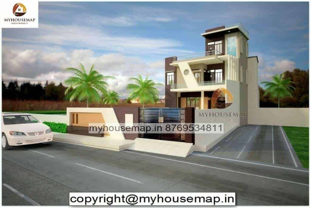 front elevation of home