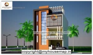 front elevation of house