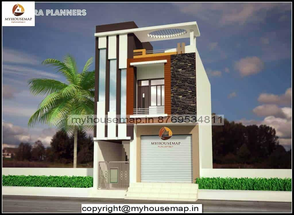 front elevation of small house