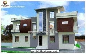 g+1 residential building elevation