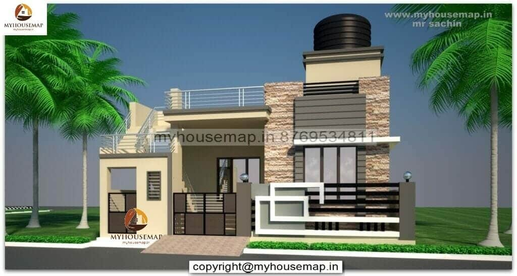 ground floor house front elevation
