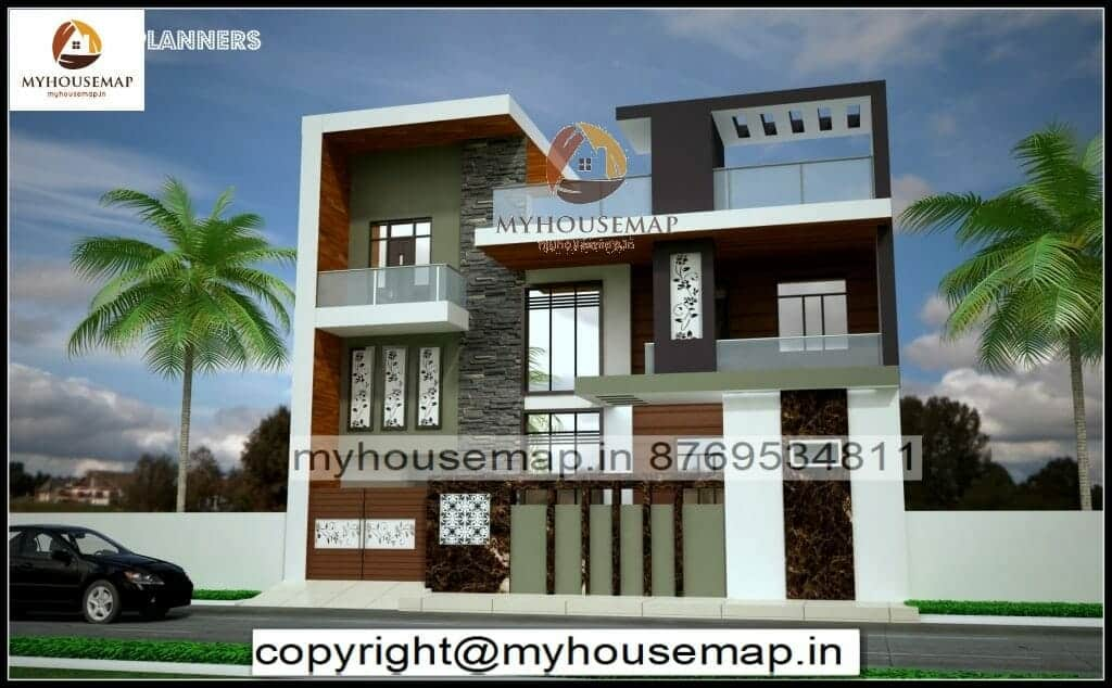 indian house elevation color combinations