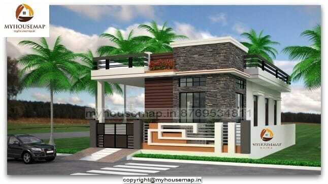 Single Floor House Front Elevation Brown And White Color,Bedroom Cabinet Design With Dresser