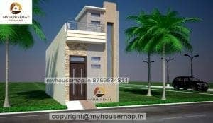 small house front elevation