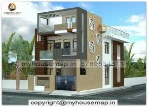 25.50 house front elevation