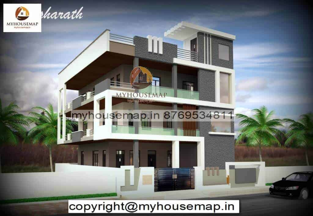 3 floor building front elevation designs