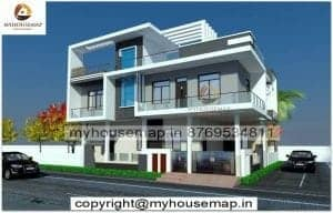 3d bungalow elevation