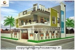 3d front elevation of house in india