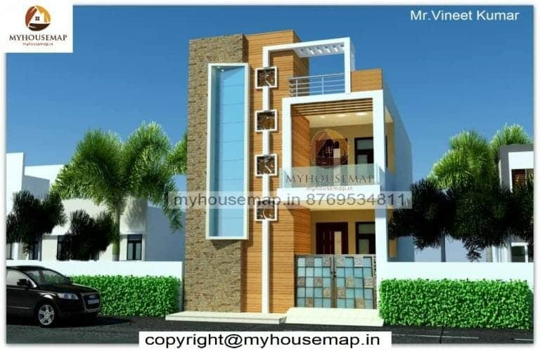 double story house front elevation