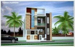 duplex house front elevation designs
