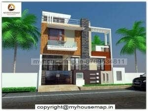 elevation design for g+1 in india