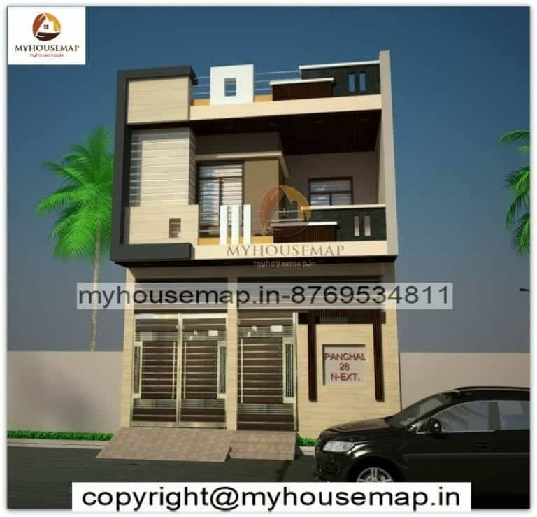 elevation of small house