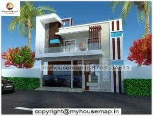 front elevation of houses