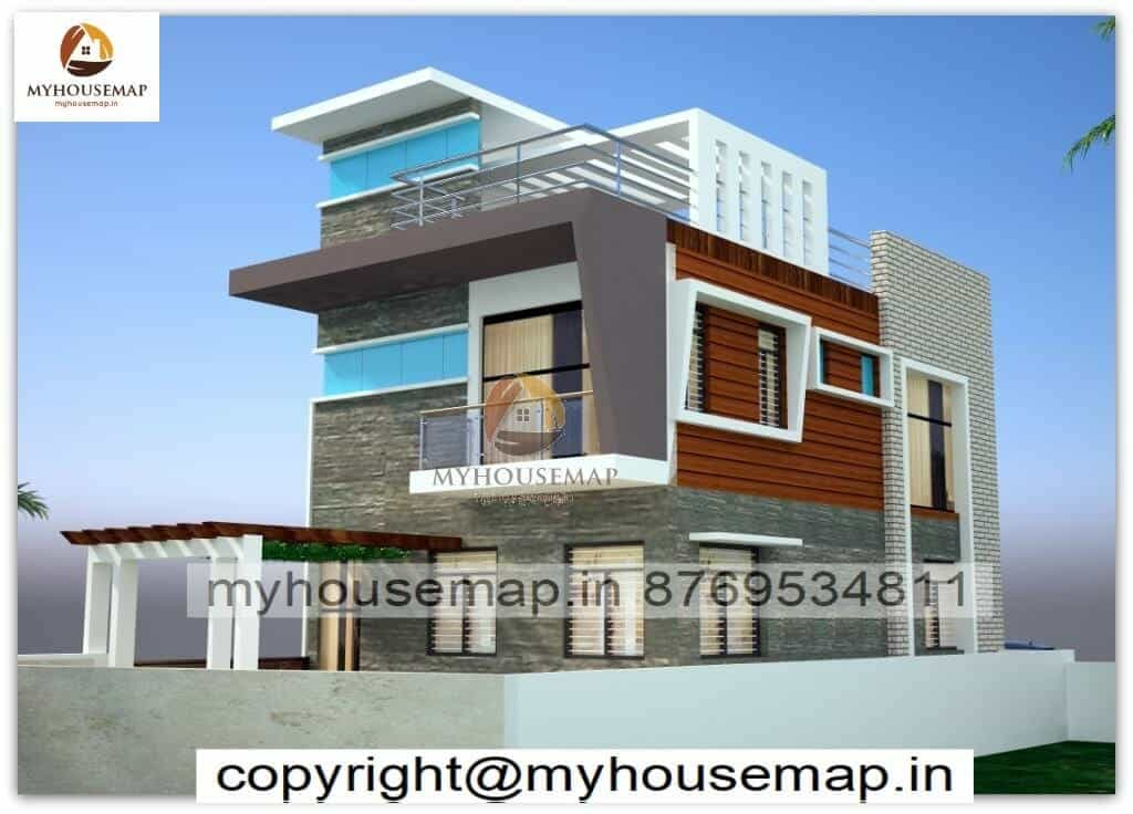 front elevation of indian house 30x60