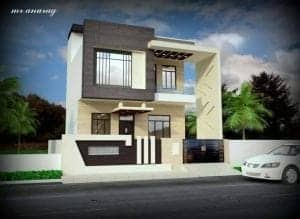 front elevation of small indian houses