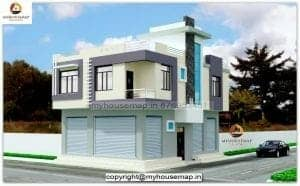 front elevation of indian house