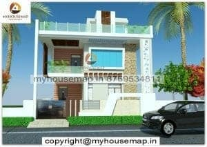 g+1 house front elevation