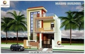 house elevation colors india