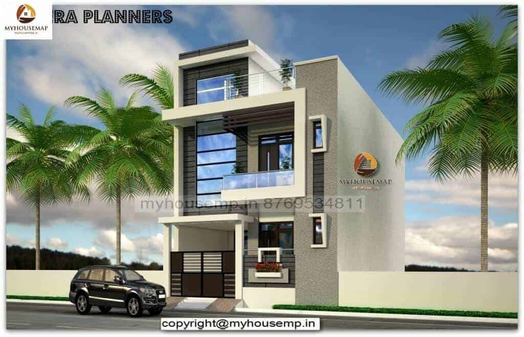 house elevation designs for double floor