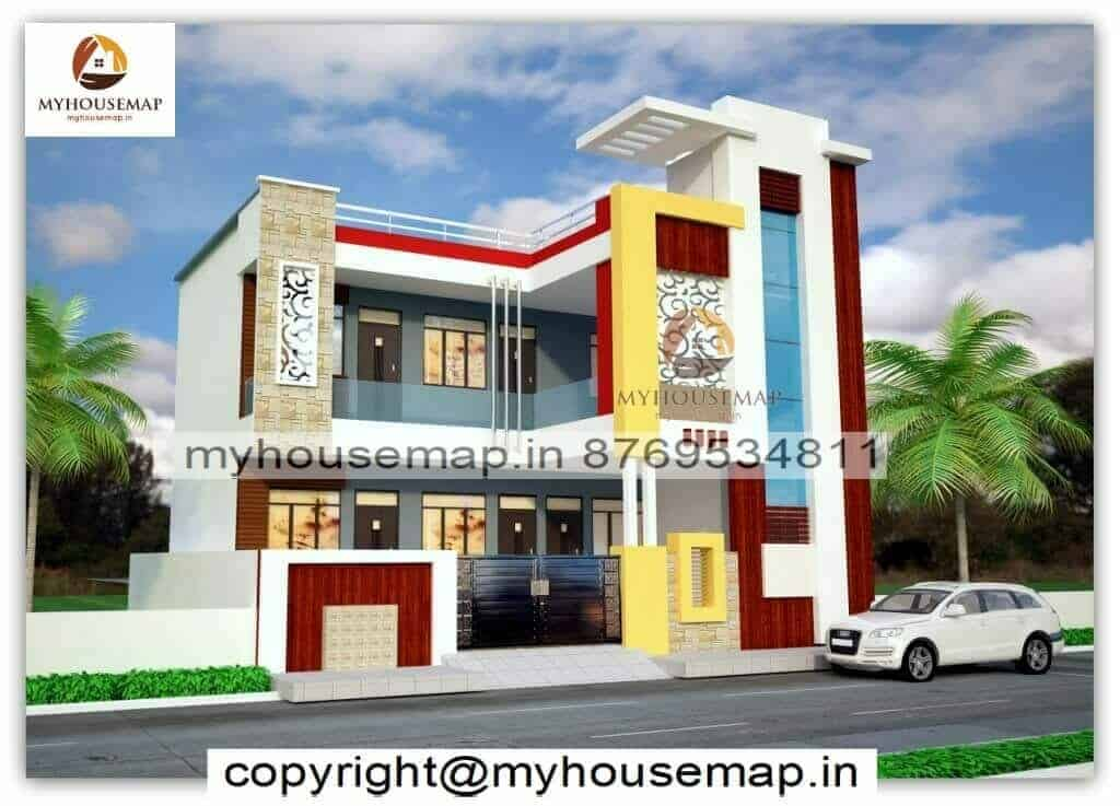 house front elevation colours