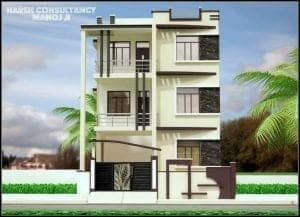 house front elevation designs for three floor