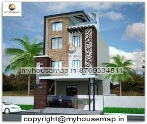 house front elevation tiles designs in india