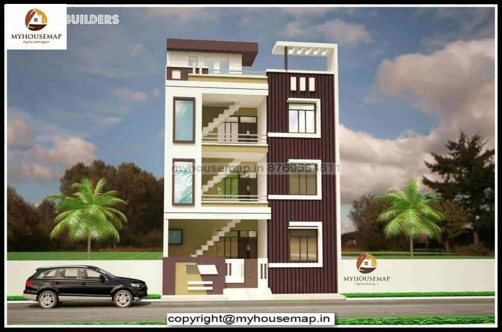 latest elevation designs for 3 floors building