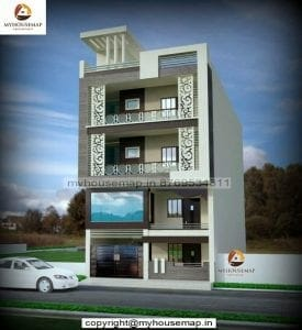 new model house front elevation