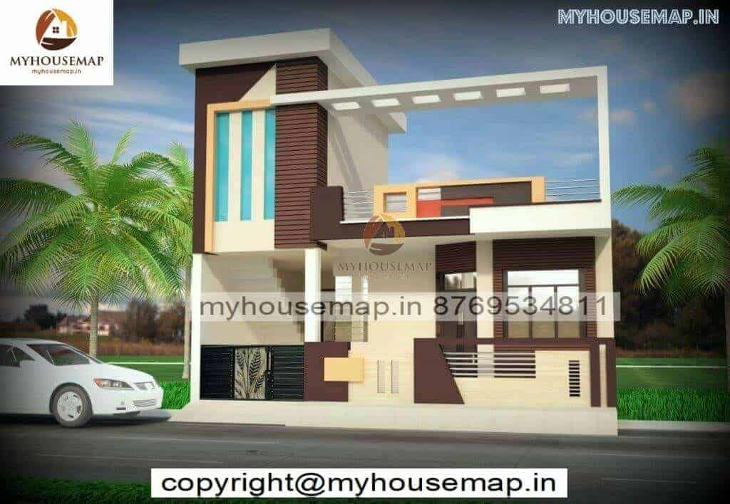 Single Floor House Front Elevation Design India Archives My House Map