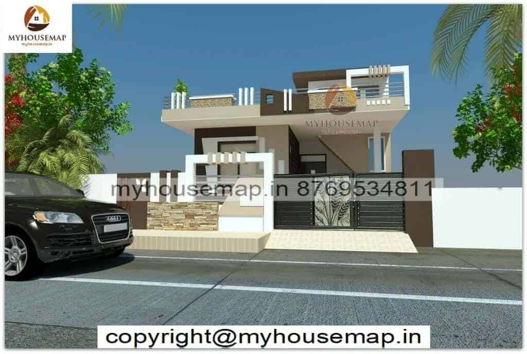 single floor house front elevation designs