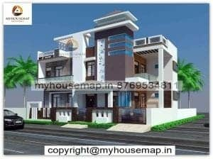 two floor house elevation designs