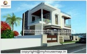 two floor house front elevation