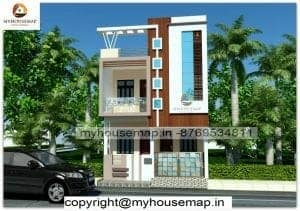 2 floor house front elevation