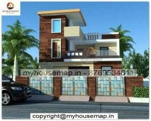 2 story latest house elevation design