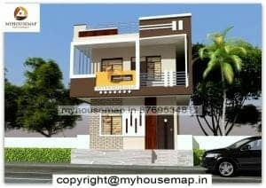 front modern normal house