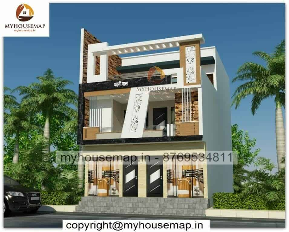 3 story house elevation design