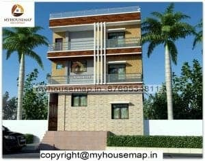 3 story latest house elevation design