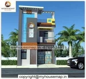 3d front elevation small house