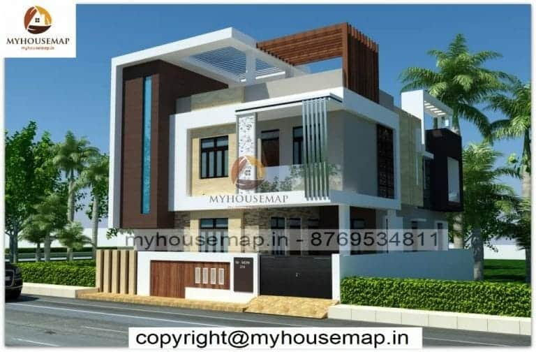 3d new house front elevation