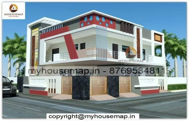 Double floor simple home elevation
